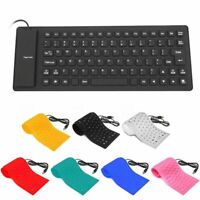 Silicone Keyboard 85 Key English Letter Wired For PC Laptop Projector