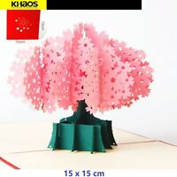 New Pop Up Greeting Card 3D Handmade Cherry Blossom Tree Birthday Mothers Day