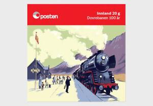 norway 2021 norvege Centenary Dovre Railway Line TRAIN locomotive 10v BKLT
