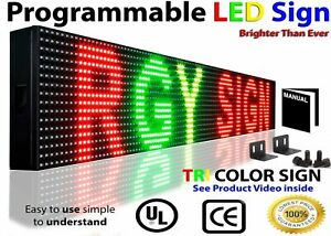 """BUSINESS HOUR LED SIGNS WI-FI 7"""" X 25"""" NEON OPEN STORE SHOP BAR TEXT DISPLAY"""