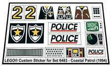Replica Sticker for Classic Town Police 6483 - Coastal Patrol (1994)