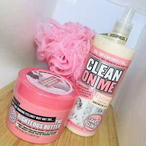 SOAP & GLORIA ~ The Birthday Box Gift Set - Shower Gel Body Butter Body Polisher