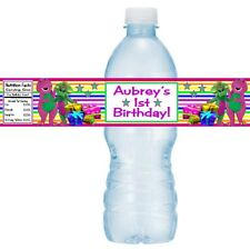 12 Barney And Friends Birthday Party Baby Shower Water Bottle Stickers Baby Bop