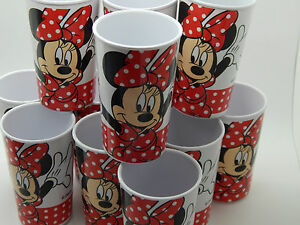 X 12 Disney Minnie Mouse Melamine Beakers Cups Camping Caravan Picnic Cup! PARTY