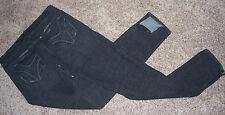GREAT! sz 9 Women's Jeans 21 TWENTY ONE ~ Black ~ Zippered Ankle ~ Stretch 32x33