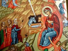 Jesus Geburt Bethlehem Ikone Weihnachten Ikonen Icon Icona Ikona Icone Heilige