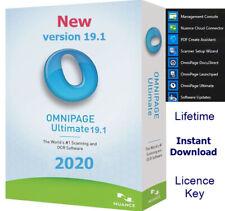 Nuance OmniPage Ultimate 19.1- OCR Scanning Software, Document management 2020