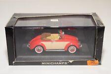 . MINICHAMPS VW VOLKSWAGEN HEBMULLER BEETLE KAFER CABRIOLET 1957 RED MINT BOXED