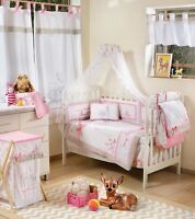 BRAND NEW DISNEY 4 PIECE PINK DEAREST BAMBI PLAY CRIB BEDDING COT SET