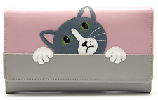 MALA Leather Cat Purse Taupe Ladies Matinee Cash Card Holder Wallet Purses RFID