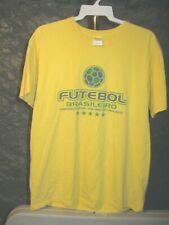 Brasil Futebol Brasileiro Classic Yellow Brasil Futebol Brasileiro Large T-Shirt