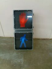 "TRAFFIC CONTROL TECH PEDESTRIAN WALK DON'T WALK SIGNAL 12""X12"" LENS HAND / MAN"
