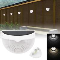 Outdoor Garden Solar 6 LED Deck Fence Light Landscape Lamp Auto Light Sensor GA