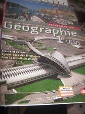 LIVRE GEOGRAPHIE PREMIERE L/ES ET S - COM NEUF - NATHAN - 0782091727240