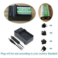 CR-V3  Rechargeable Battery &Charger for Olympus C-170 C-3040 C750 Camedia E-20