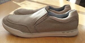 Clarks Cloudsteppers Step Isle Slip Sand Canvas Shoes Size 10.5 G