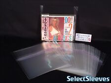 RESEALABLE sleeves CD jewel case TOP seal Japan Made 50 pcs SelectSleeves