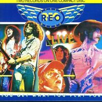 REO Speedwagon LIVE You Get What You Play For Album Vinyl LP Record