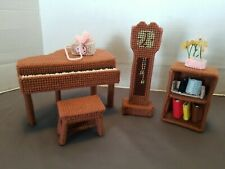 Handmade Needlepoint on Plastic Canvas Dollhouse Furniture