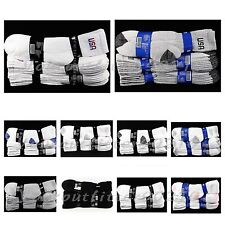 4 12 PACK Men Women Crew Socks Lot Athletic Cotton Sports Ankle USA  9-11 10-13