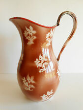 BROC TOLE EMAILLEE / PITCHER ENAMELLED IRON