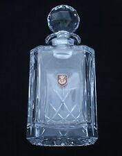 Royal Engineers Sappers  officer Cut Crystal Glass Decanter Whiskey Spirit BGK6
