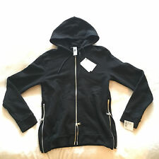 Brand New Authentic Balmain Side Zip Hoodie Black Medium Mens