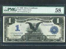 USA:FR-233,1$,1899 * Silver Certificate * Lincoln & Grant * PMG Ch. AU 58 *