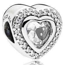 PANDORA Charm Element 797608 CZ Herz Logo Silber Bead