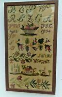 Vintage Tapestry/Sampler from 1954