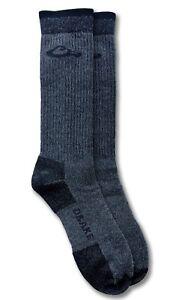 Drake Mens Premium Thermal Merino Wool Cushion Seamless Hiking Crew Socks 1 Pair