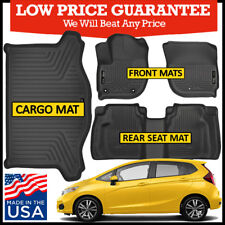Husky Liners Weatherbeater 2015-2019 Honda Fit Complete Floor Mats Set BLACK