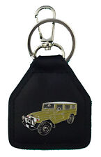 Toyota Landcruiser Mustard Troop Carrier, FJ78, HJ78  Real Leather Keyring
