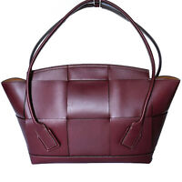 Bottega Veneta Arco 56 Large Bordeaux Intrecciato Leather Bag