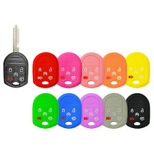Silicone Protective Rubber Keyless Remote Head Key Fob Cover Case Ford CWTW 5Btn