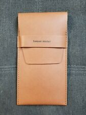 Exclusive item Tomas Maier Leather pouch for eyeglasses handmade in Italy Brown