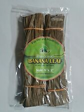 Dins Natural Dried Banana leaf Pack For Pet and Aquarium free Shipping