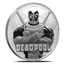 DEADPOOL MARVEL SERIES 2018 1oz Pure Silver Coin  IN CAPSULE Tuvalu - Perth Mint