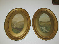 A Pair Of Antique Watercolour Paintings