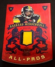 RASHARD MENDENHALL 2010 Crown Royale All-Pros PATCH Prime JERSEY #d /50 STEELERS