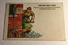 Fortune Post Card Comic Cartoon Boarding House Beware Large Female Posted 1908