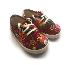 Keds X Rifle Paper Co. K-Champ Seasonal Vintage Baby Girl's Shoes Size 6-12 Mo