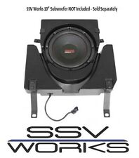 "SSV Works Under Seat Sub Enclosure Box for 10"" Subwoofer 2017 Can Am Maverick X3"