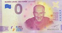 BILLET 0  EURO LOUIS DE FUNES ANNIVERSARY FRANCE   2020  NUMERO DIVERS EPUISE