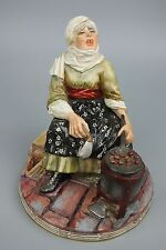 "Capodimonte Luigi Fabris Figurine ""Chestnut Seller"" MINT WorldWide"