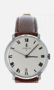 Corum Automatic Watch Roman Numerals Vintage 34mm