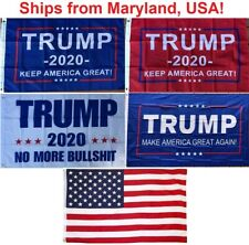 2' x 3' Trump 2020 Flag - Keep America Great - No More Bullshit -Small Boat Flag