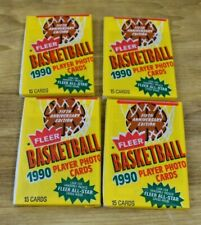 Fleer Basketball 1990 Player Photo Cards Lot Of 4 Sealed Wax Packs