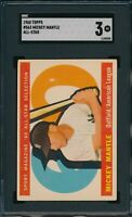 1960 Topps Set Break #350 Mickey Mantle All Star SGC 3 Not PSA *OBGcards*