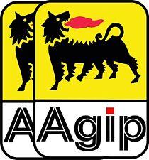 """AGIP 6"""" f1 Ducati Mv WSB TOOL BOX AUTO DA CORSA ADESIVI Super Bike Confezione da 2"""